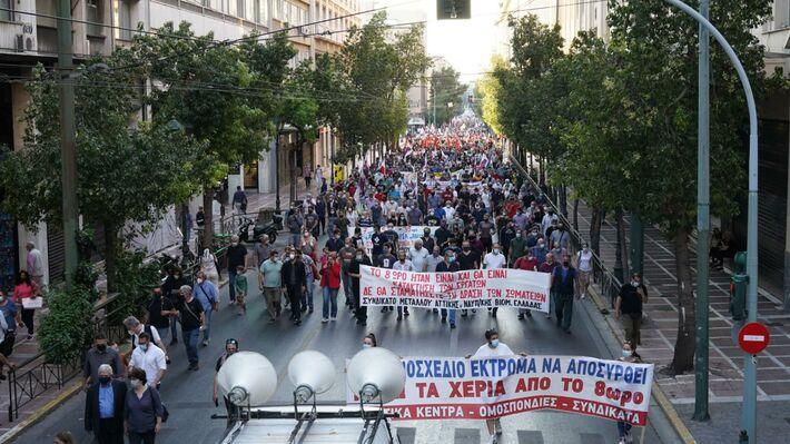 Από το συλλαλητήριο στην Αθήνα στις 3/6/2021