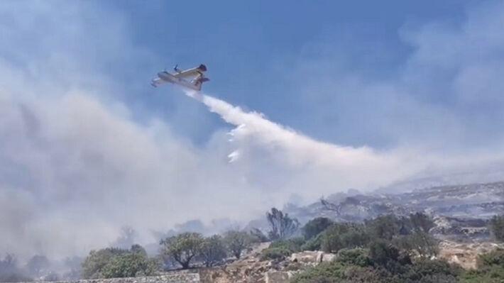 Από την πυρκαγιά στην Πάρο τον φετινό Ιούνιο