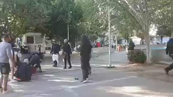 Απο την επίθεση στην αντιφασιστική συγκέντρωση στο Ν. Ηράκλειο