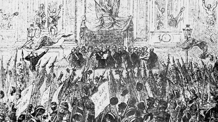 Η ανακήρυξη της Κομμούνας στις 28 Μάρτη 1871